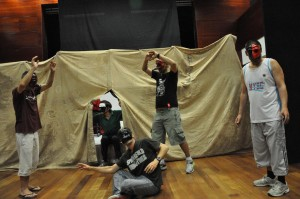 taller de teatro en el CAS de Sants de la ASPB