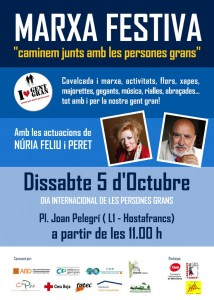 II Marcha festiva del Dia Internacional de las Personas Mayores