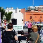 Nuria Feliu dona el seu suport a la marxa