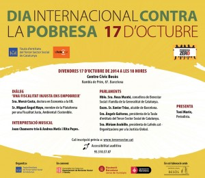 DIA INTERNACIONAL DE LA POBRESA - Inscripcions obertes